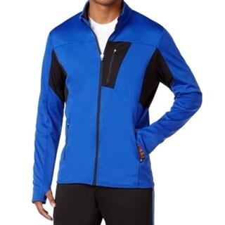 Ideology NEW Blue Black Mens Large L Colorblock Athletic Track Jacket