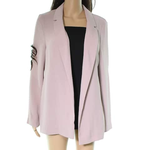TopShop Light Pink Womens Size 8 Open Front Long Sleeve Jacket