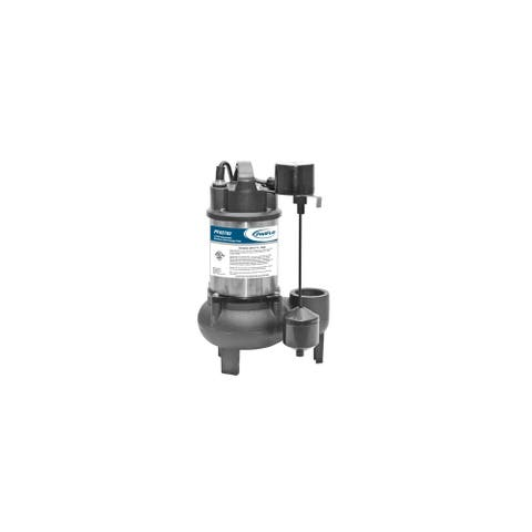 PROFLO PF93782 1/2 HP Cast Iron Submersible Sewage Pump with Vertical Float Switch -