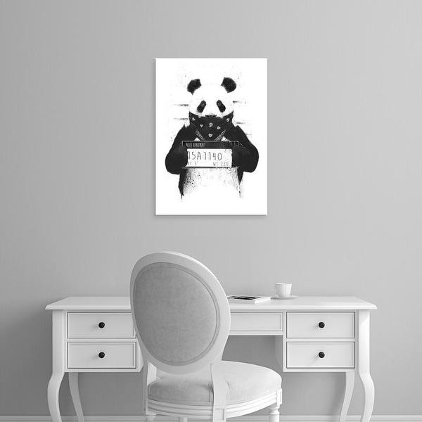 Easy Art Prints Balazs Solti's 'Bad Panda' Premium Canvas Art