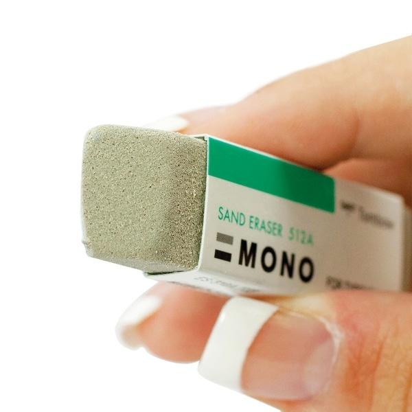 Tombow MONO Sand Eraser 2/Pkg-Grey