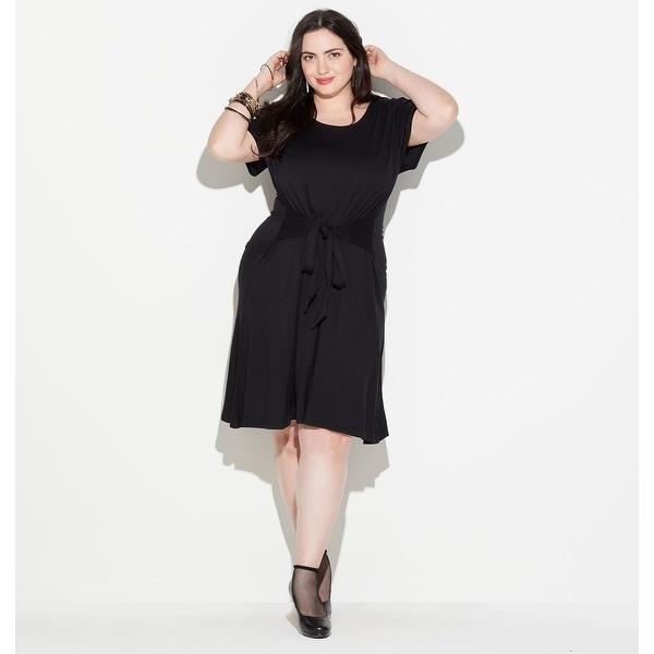 ee3849c7923f Shop LORALETTE Women's Tie Front Dress - Black - Free Shipping On ...