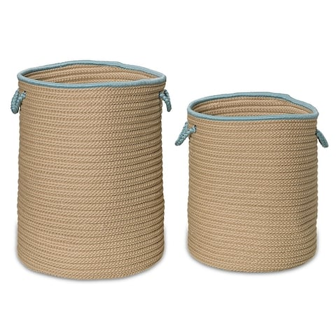 Boat House Texture-Woven Hamper Basket for Indoor-Outdoor use