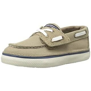 Sperry Boys Cruz Jr Toddler Canvas Boat Shoes - 10.5 medium (d)