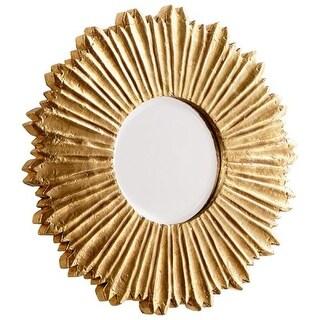 Cyan Design Starburst Mirror 7 Inch Diameter Starburst Wood Mirror Made in India