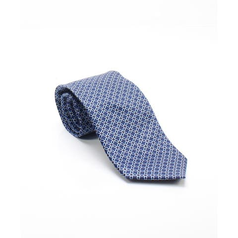 The Men's Store Navy Blue Men's One Size Multi Chain Link Neck Tie