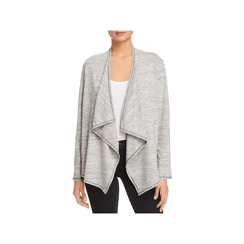 Status by Chenault Womens Cardigan Top Heathered Open Front