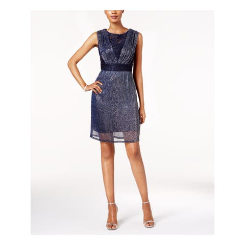 SANGRIA Navy Sleeveless Above The Knee A-Line Dress Size 8
