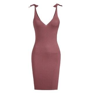 NE PEOPLE Womens Sleeveless V-Neck Tied Shoulder Dress-NEWDR3098