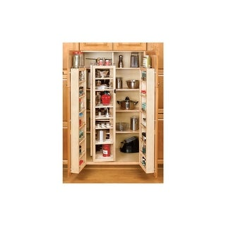 Shop Rev A Shelf 4wp18 57 Kit 4wp Series 57 Quot Tall Swing Out Pantry Cabinet Organizer Set With