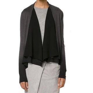 Elie Tahari NEW Gray Women's Size Large L Cardigan Silk Sweater