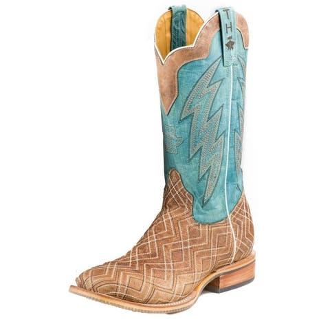 Tin Haul Western Boots Mens Matrix Square Tan