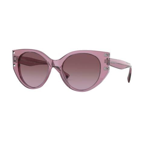 Valentino VA4068 51478H 53 Transparent Pink Woman Cat Eye Sunglasses