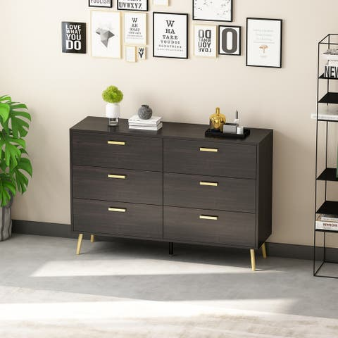 Double Dresser with 6-drawer