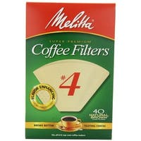 Melitta 624412 Cone Coffee Filters, 40 Count, Natural Brown