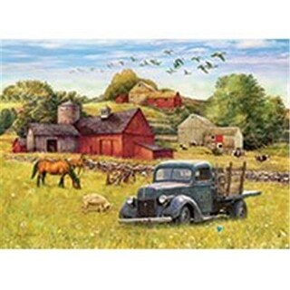 Outset Media Games OM58890 Blue Truck Farm Puzzle Tray, 35 Piece