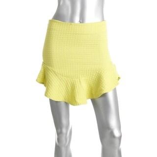 Zara Trafaluc Womens Textured Above Knee A-Line Skirt