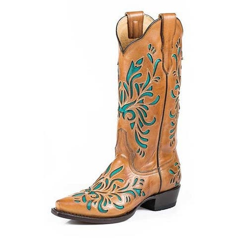 Stetson Western Boots Womens Burnished Orange
