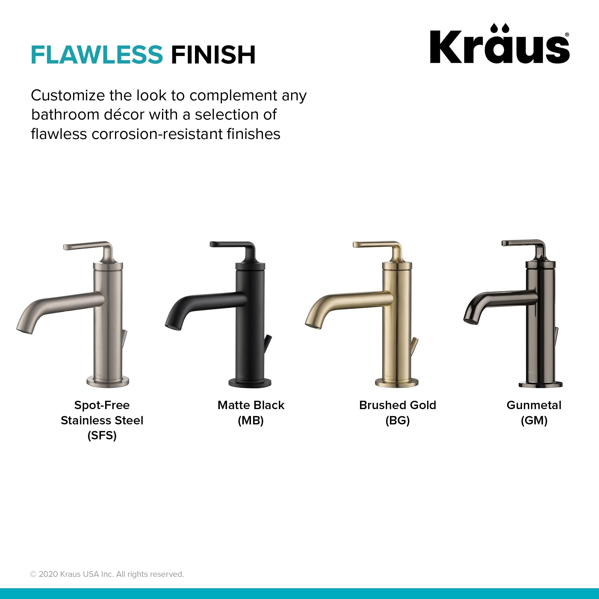 kraus ramus single handle bathroom sink