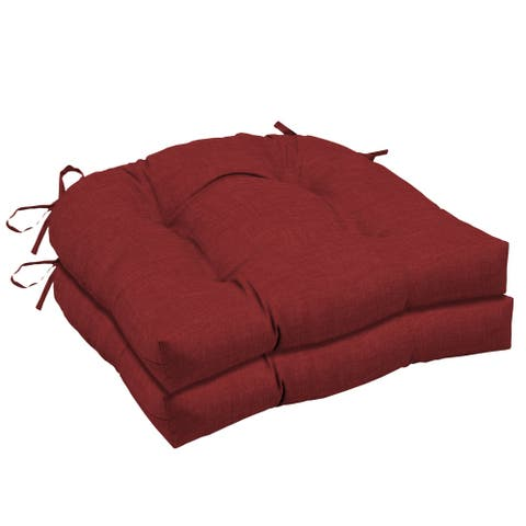 Arden Selections Ruby Leala Texture Wicker Seat Cushion 2-pack - 18 in L x 20 in W x 5 in H