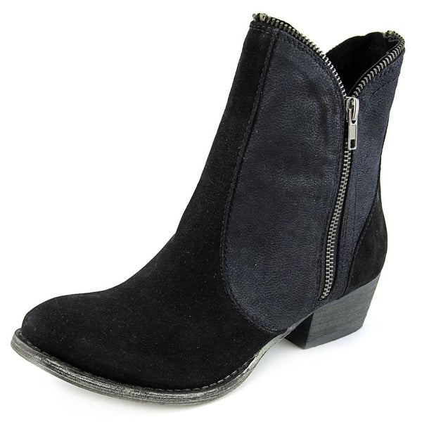 r.b.l.s. Selina Women Round Toe Synthetic Black Ankle Boot