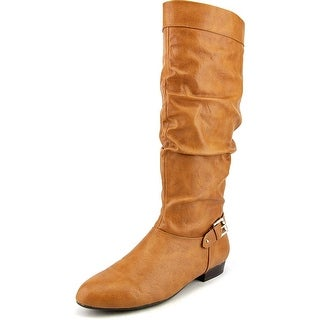 Style & Co Pettra Women Round Toe Synthetic Tan Knee High Boot