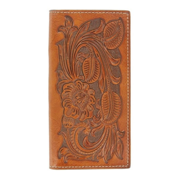 Nocona Western Wallet Mens Rodeo Pro Tooled Rich Earth - One size