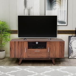 55-inch TV Stand TV Console Table with Adjustable Shelves