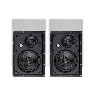 Monoprice In-Wall Speakers 6.5 Inch Carbon Fiber 3-Way (pair) - Alpha Series