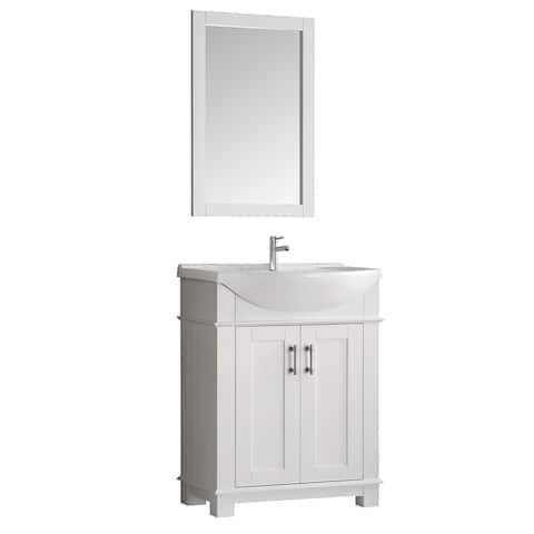 "Fresca Hartford 30"" White Traditional Bathroom Vanity"