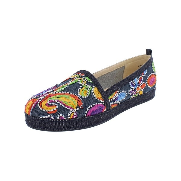 36d9d8be4 Shop Stuart Weitzman Womens Sugar Espadrilles Embroidered Round Toe ...