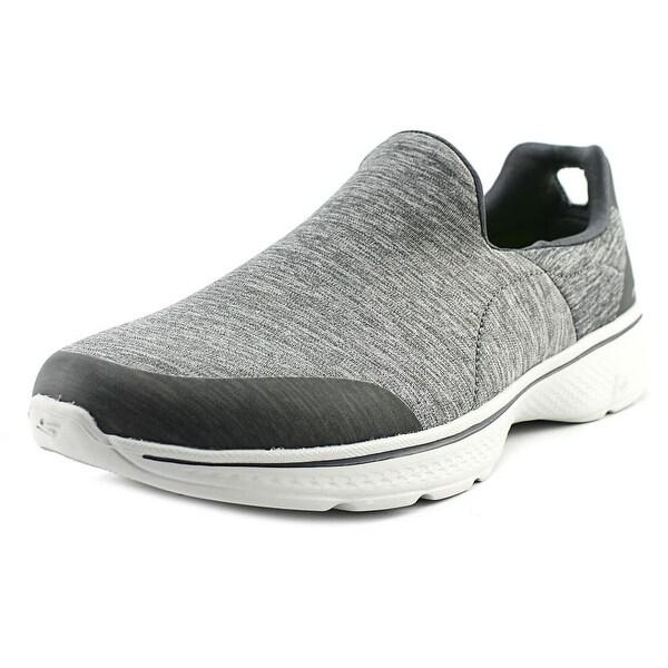 Skechers GoWalk 4 - Certify Men Round Toe Synthetic Gray Walking Shoe