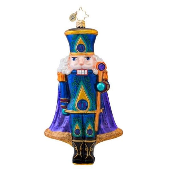 Christopher Radko Glass Sugar Plume Nutcracker Christmas Ornament #1017068