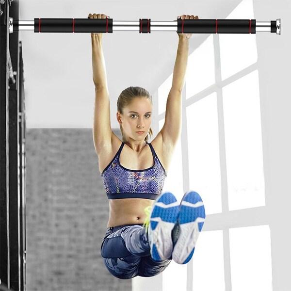 Horizontal Bar Indoor Door Punch-free Pull-ups Home Fitness Equipment. Opens flyout.