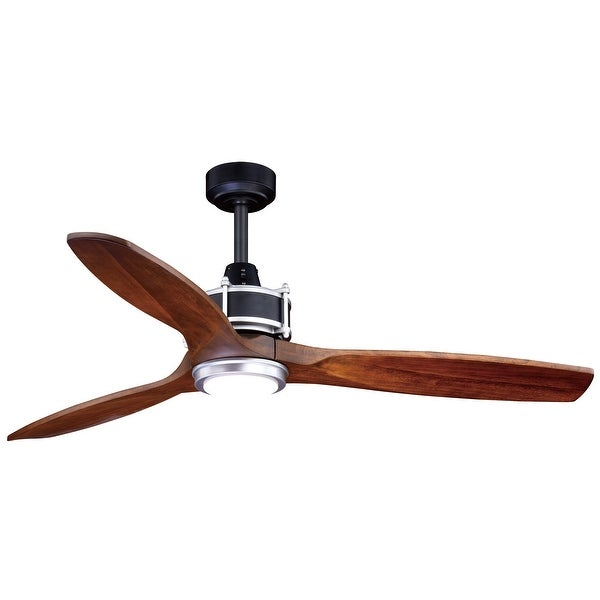 Curtiss 52 In. Black Outdoor Ceiling Fan with LED Light Kit and Remote - 52-in W x 21.75-in H x 52-in D (As Is Item)