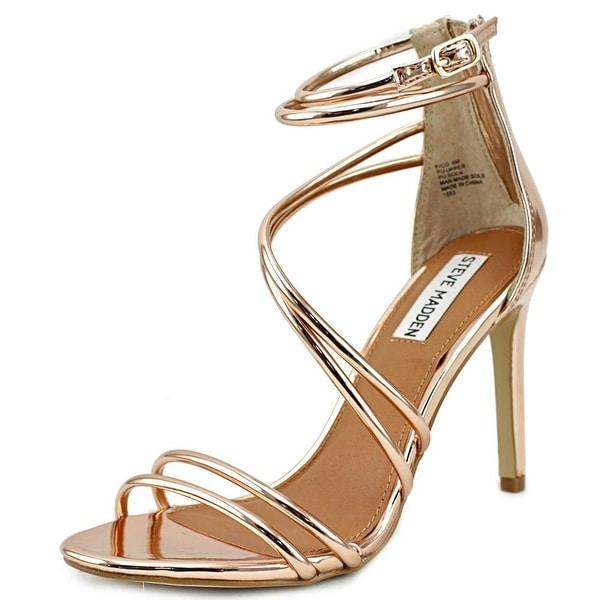 Steve Madden Fico Women Open-Toe Synthetic Pink Heels