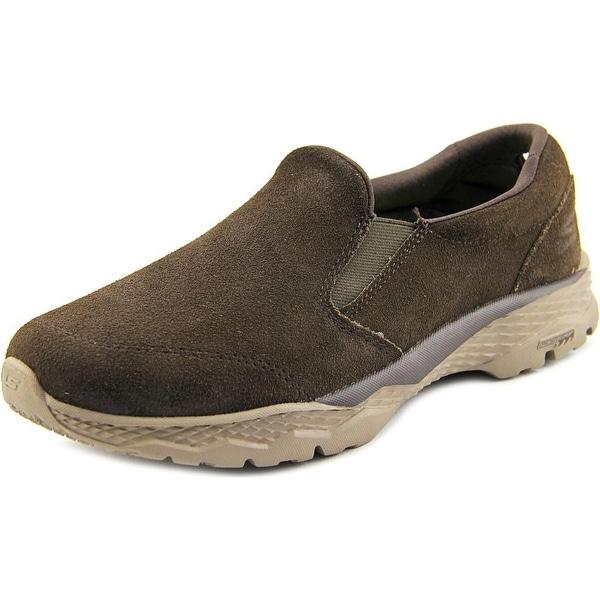 Skechers Go Walk Ouors Women Round Toe Suede Brown Walking Shoe