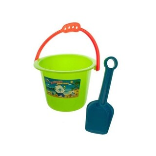 5 x 6.5 in. dia. Colorful Sand Pail & Shovel Set - Pack of 80