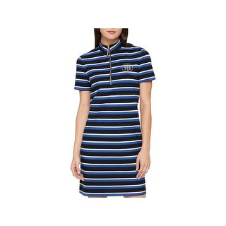 Tommy Hilfiger Womens Cocktail Dress Striped Sheath