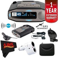 Escort 0100037-1 Max 360C Radar Laser Detector with Wi-Fi + Escort Smart Direct Wire Cord (Red) + 1-Year Extended Warranty