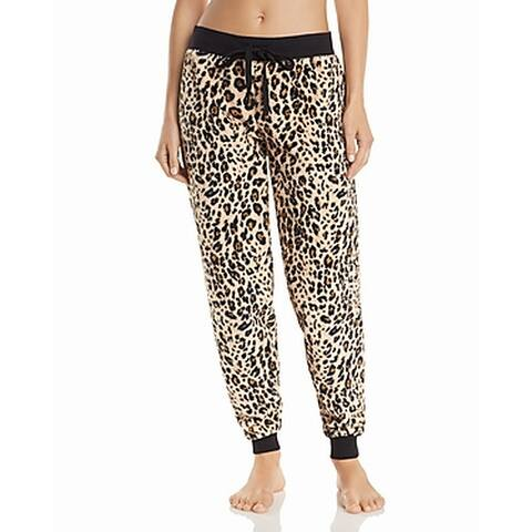 PJ Salvage Womens Sleepwear Brown Size Small S Lounge Pants Leopard