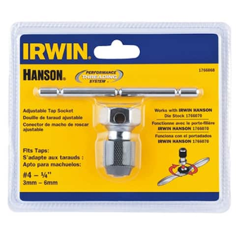 Irwin Tools 1766068 Hanson Self Aligning T-Handle Tap Wrench, #4 To 1/4""