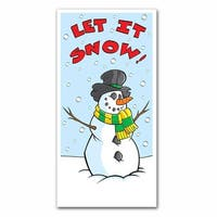 "Club Pack of 12 Winter Wonderland Themed ""Let It Snow"" Door Cover Party Decorations 5' - Multi"
