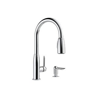 Peerless P188103LF-SD Kitchen Faucet Widespread with Single Lever Handle, Pullou
