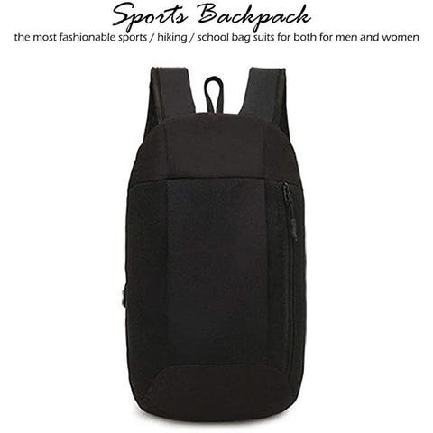 Unisex Schoolbag Sports Backpack Shoulder Strap Carrying Bag Black