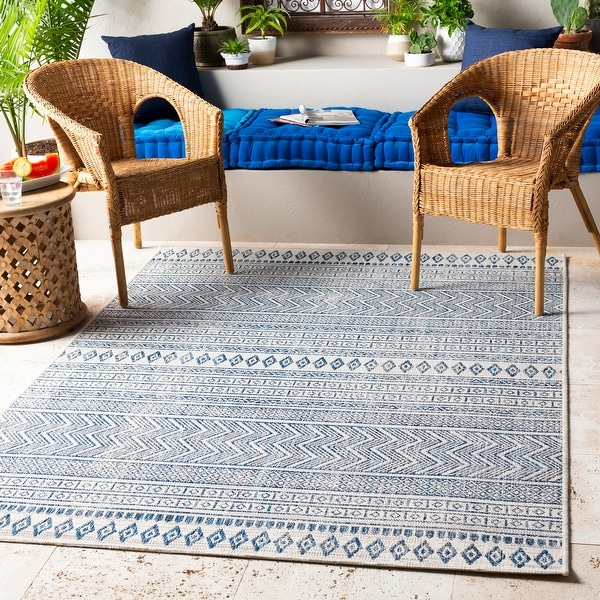 The Curated Nomad Allegheny Indoor/ Outdoor Bohemian Stripe Area Rug. Opens flyout.