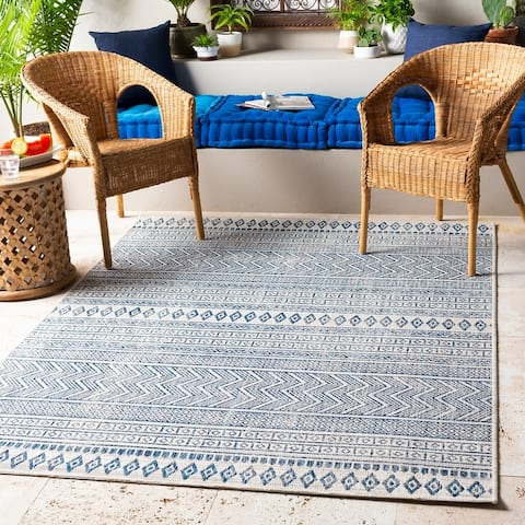 The Curated Nomad Allegheny Indoor/ Outdoor Bohemian Stripe Area Rug