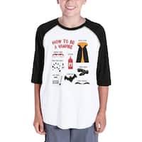 How To Be Vampire Halloween Tshirt For Kids Graphic Raglan Shirt