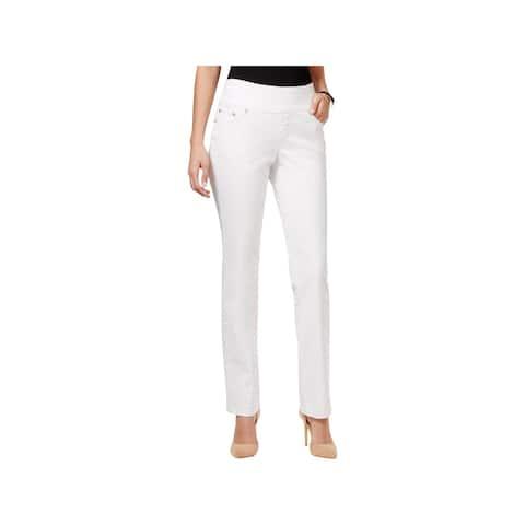 Jag Womens Peri Straight Leg Jeans High Rise Pull On
