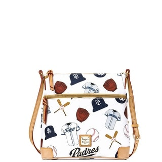Dooney & Bourke MLB Padres Crossbody (Introduced by Dooney & Bourke at $188 in Jan 2015) - White